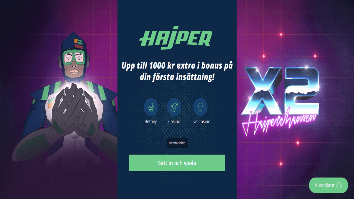 Hajper Casino Review