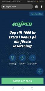 Hajper Mobile Casino